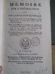 Léonard Bourdon de la Crosnière's pamphlet on public instruction. Bibliothèque Historique de la Ville de Paris.