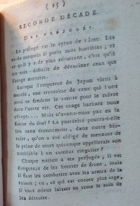 Warning about the danger of prejudices. Bibliothèque Historique de la Ville de Paris.