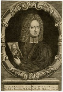 Portrait of Henry Sacheverell holding a portrait of Charles I (1709)