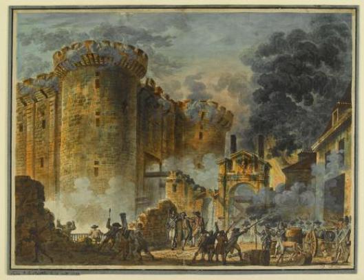 Jean-Pierre Houel - Prise de la Bastille (1789) - Carnavalet Museum