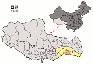 Location_of_Mêdog_within_Xizang_(China)