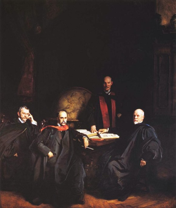 1905 Professors Welch, Halsted, Osler and Kelly (aka The Four Doctors) oil on canvas 298.6 x 213.3 cm Johns Hopkins University School of Medicine, Baltimore MD