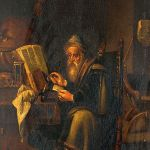 A_philosopher_reading._Oil_painting_by_a_follower_of_David_T_Wellcome_V0017298
