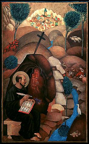 Ignatius at the River Cardoner - By Dora Nikolova Bittau in Chapel of St Ignatius, Seattle University