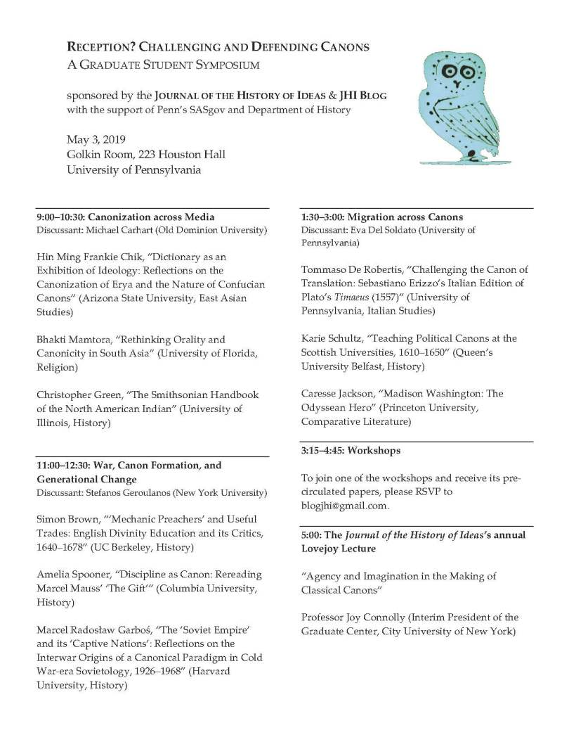 JHI Graduate Student Symposium Program