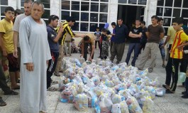 More bread delivered to refugee families.