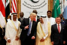 Presiden Trump, Raja Salman bin A. Al Saud, Raja Abdullah II dan Pangeran dari Abu Dhabi