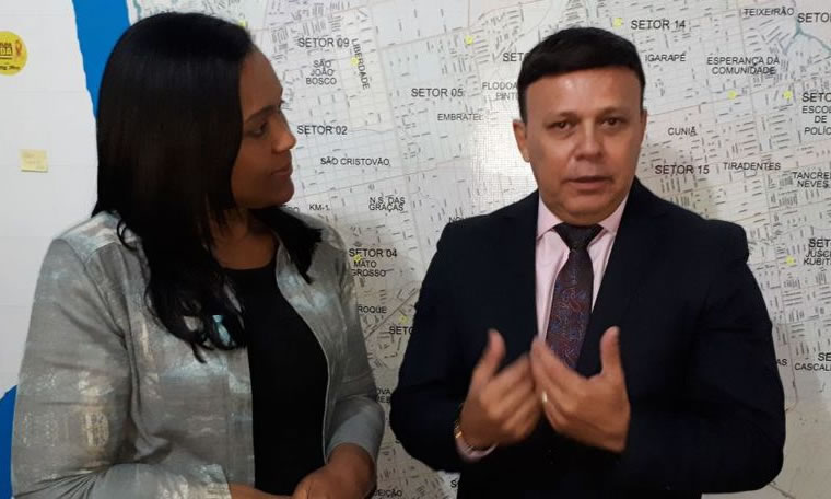 Vereadora Joelna Holder recebe visita de promotor Héverton Aguiar