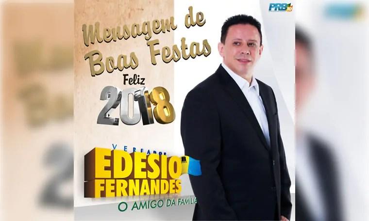 Vereador Edesio Fernandes deseja boas festas aos Portovelhenses