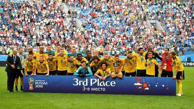 Bélgica vence a Inglaterra e conquista o 3º lugar da Copa do Mundo
