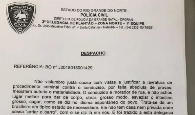 """""""Cagalança geral"""": delegado surpreende em despacho para soltar preso"""