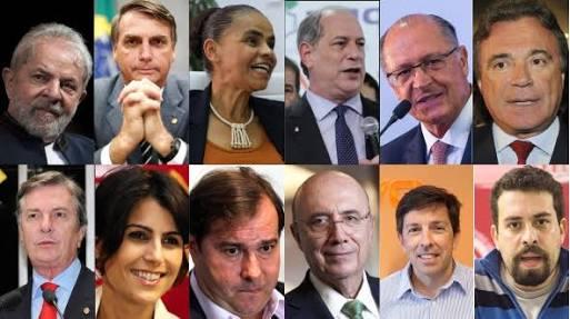 Partidos lançam 13 candidatos à Presidência da República