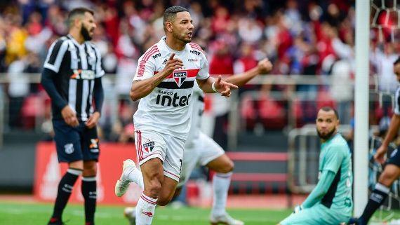 São Paulo martela, vence o Ceará em jogo tenso e mantém liderança do Brasileiro