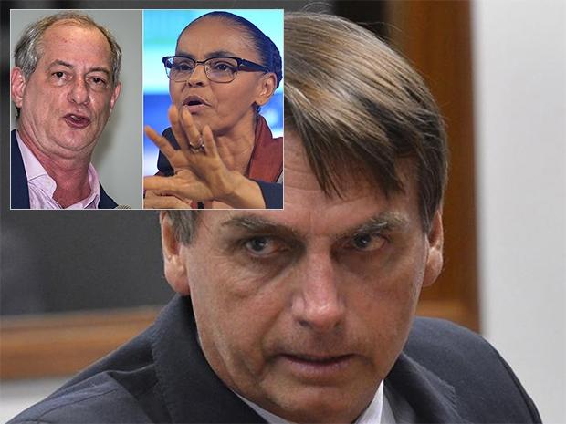 Bolsonaro lidera com 22% contra 12% de Marina e Ciro, diz Ibope