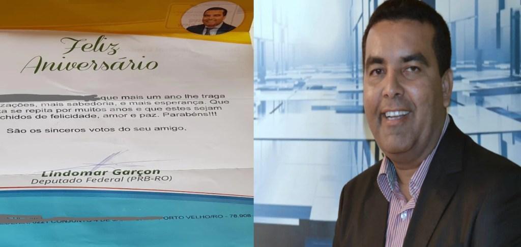 SEM  NOÇÃO – Deputado Garçon envia correspondência oficial parabenizando homem morto há 10 anos