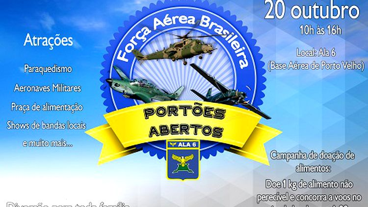 BASE AÉREA – FAB promove portões abertos neste sábado (20) na capital