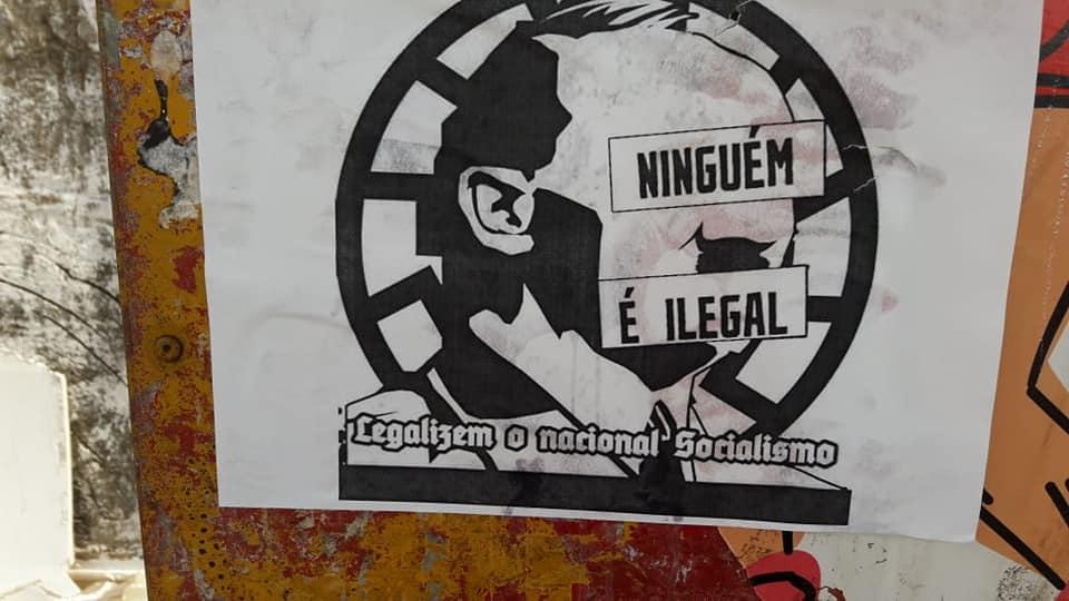 PERIGO – Em Porto Velho, cartazes nazistas são colados em áreas públicas