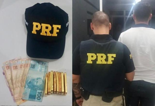 Suposto dono de draga é preso com mais de três quilos de ouro pela PRF
