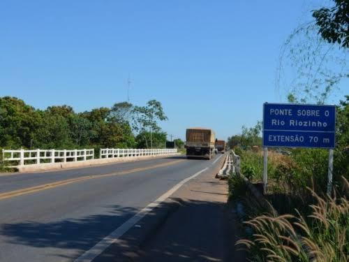 MAPA – Após interdição de ponte na BR 364, PRF divulga rotas alternativas