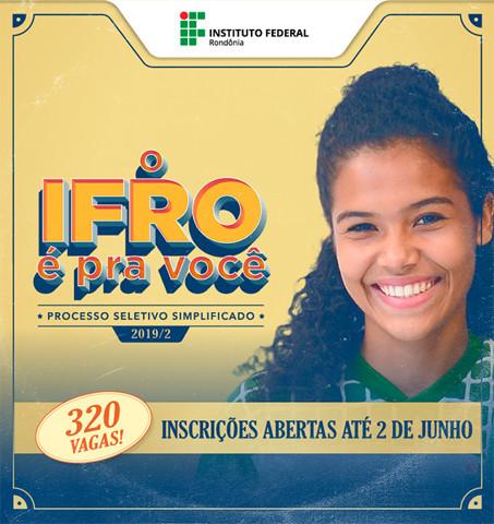 Ifro abre processo de seleção com 320 vagas para cursos técnicos e superiores