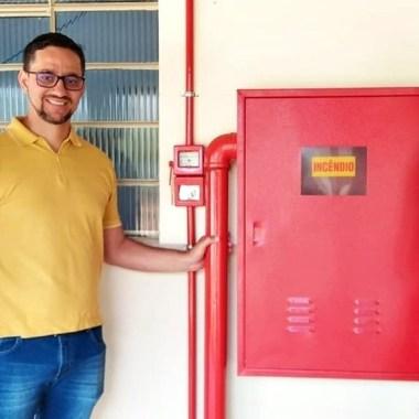Deputado Anderson visita a APAE e faz a entrega oficial do sistema de prevenção contra incêndios