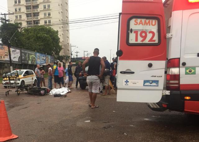 Motociclista morre em grave acidente na região central da capital