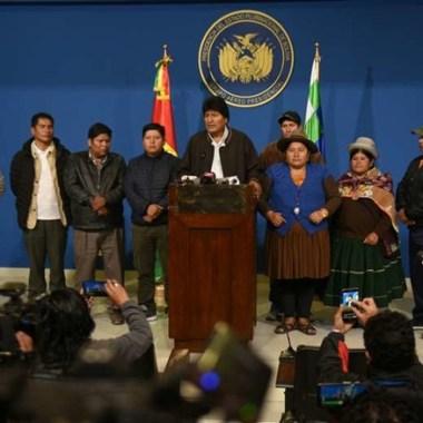 Evo Morales anuncia novas eleições na Bolívia