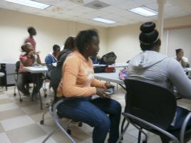 DYA youth media workshop - lively session.