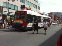 OC Transpo showing their support. Photo by Brianna Harris