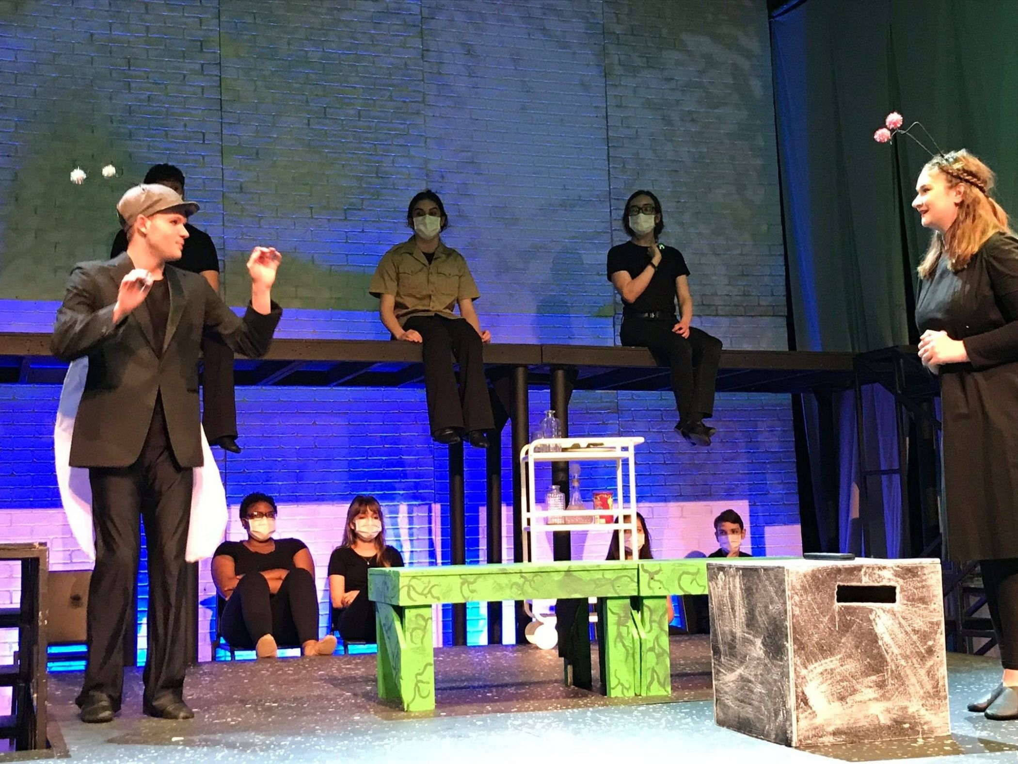 Student in theatre acting