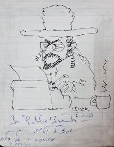 Dick Codor cartoon of Bill Frank