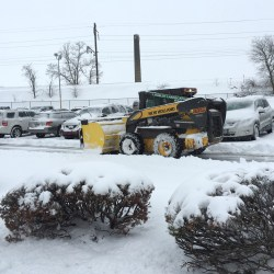 Clearing a parking lot