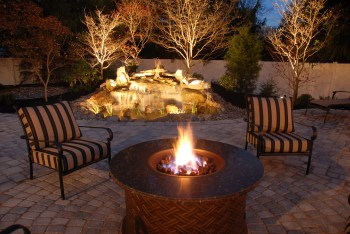 Outdoor living space and lighting - Photo by Gordon W. Dimmig Photography