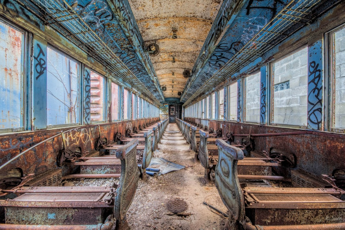 Abandoned Passenger Train | Indiana Countryside | Urbex Photography