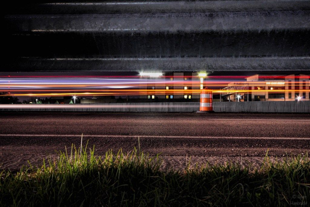 Interstate Traffic Light Trails | Image By Indiana Architectural Photographer Jason Humbracht