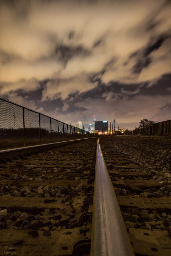 Train Tracks into Indianapolis | Image by Indiana Architectural Photographer Jason Humbracht