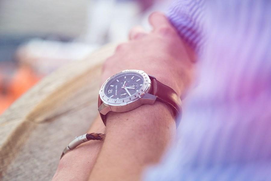 Men's Bracelet and Watch on Wrists