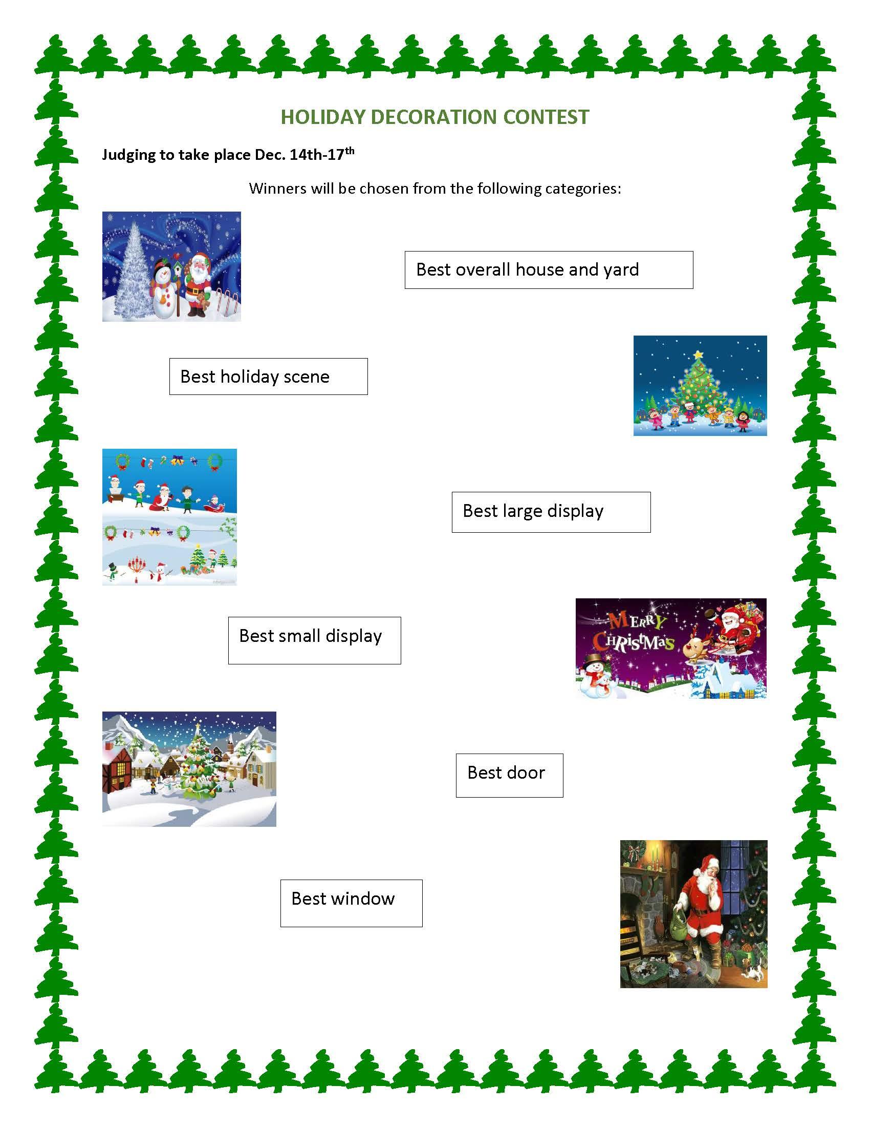 christmas door decorating contest score sheet