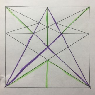 A crease pattern. Student: Yuning Ding