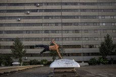 Free-form exercise and parkour outside