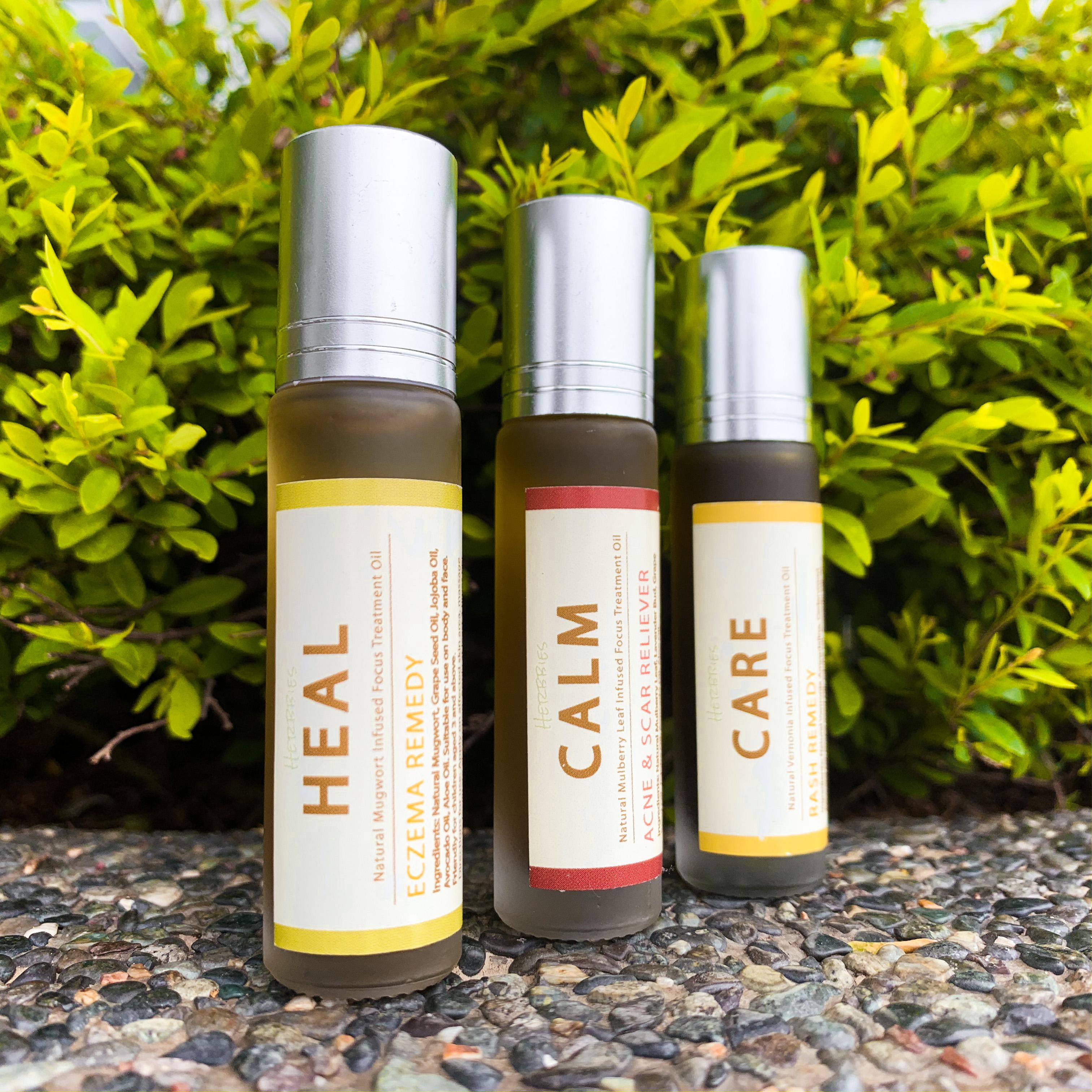 【艾草、南非葉、桑葉】皮膚治療油套組