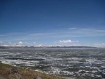 frozen yellowstone lake