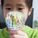 小香瓜玩不會破掉的泡泡