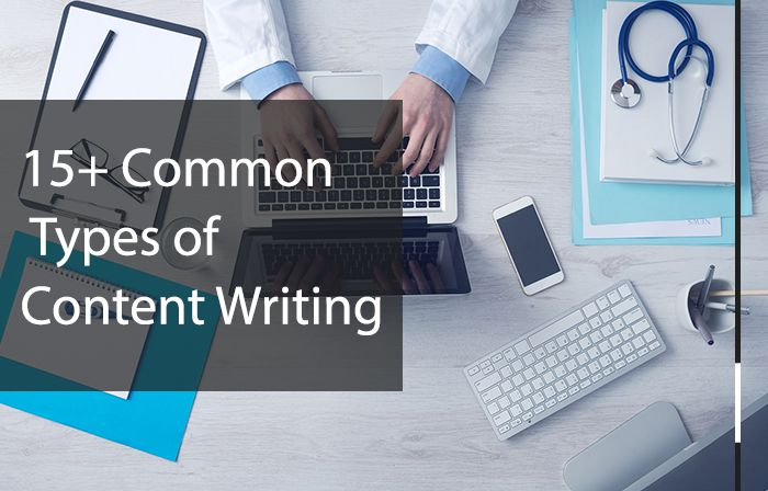 common types of content writing