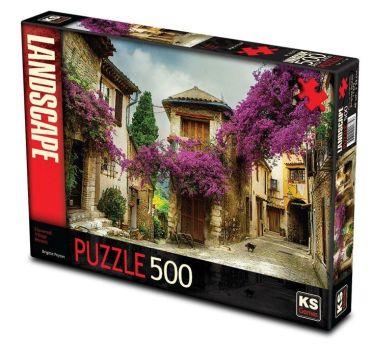 11375-ks-games-500-parca-flowered-village-houses-brigitte-peyton-puzzle-1