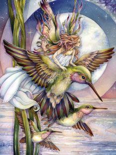 """fairy and hummingbirds"""