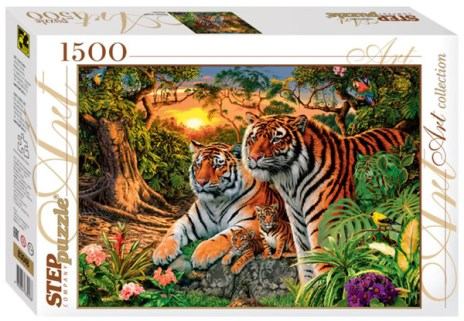steve read_hidden images tigers_step puzzle 1500