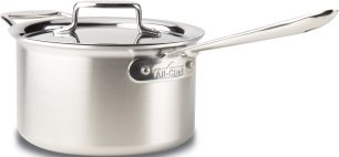 Stainless steel All-clad saucepan