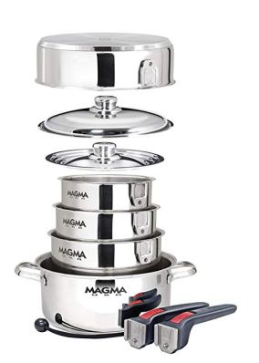 stainless stackable pans for induction cooktops