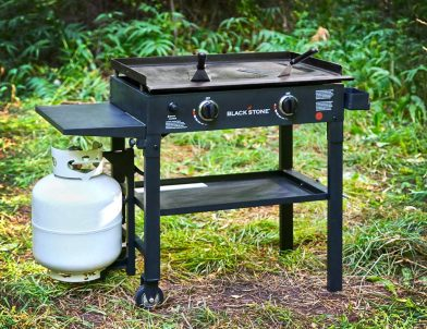 Picture of Blackstone 28inch outdoor gas grill station with 2 burner, outdoor gifts for weddings men and women